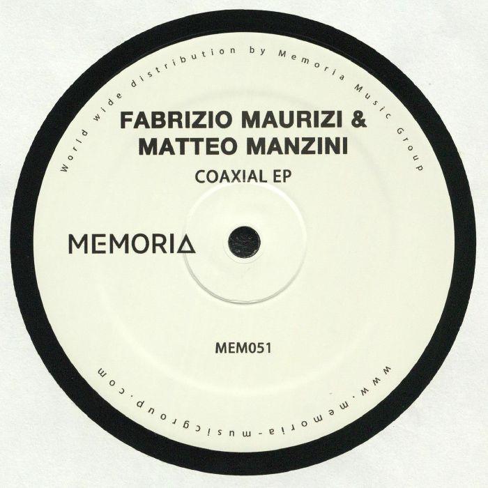 "( MEM 051 ) Fabrizio MAURIZI / MATTEO MANZINI - Coaxial EP (12"") Memoria Recordings Netherlands"