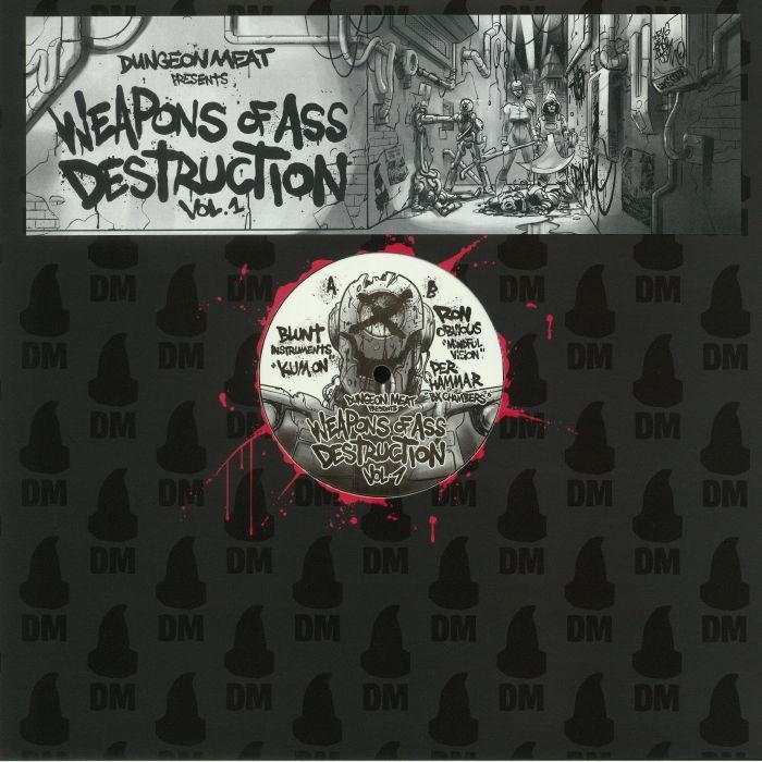 "( DMT 07 ) BLUNT INSTRUMENTS / RON OBVIOUS / PER HAMMAR - Weapons Of Ass Destruction Vol 1 (180 gram vinyl 12"") - Dungeon Meat"