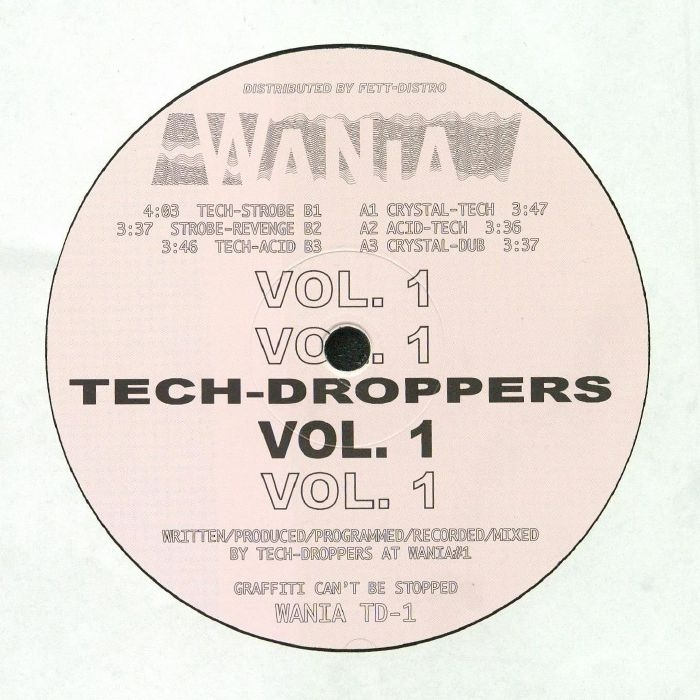 "( WANIA TD 1 ) TECH DROPPERS - Tech Droppers Vol 1 (12"") Wania Norway"