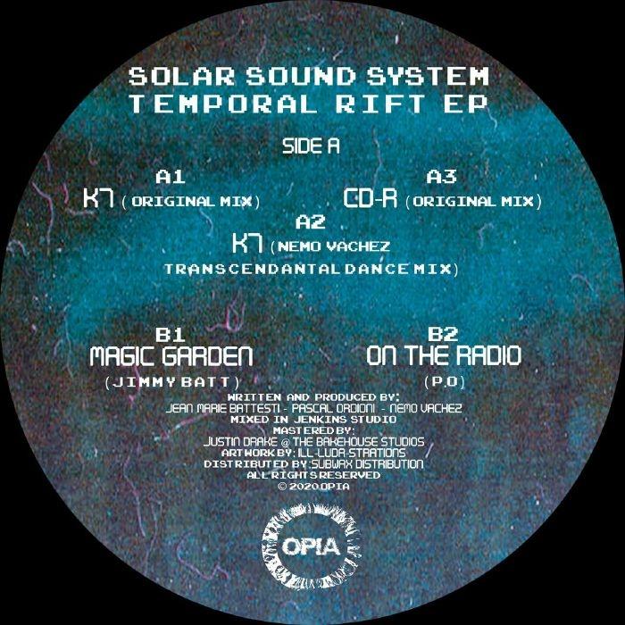 "( OPIA 007 ) SOLAR SOUND SYSTEM / JIMMY BATT / PO - Temporal Rift EP (12"") Opia"