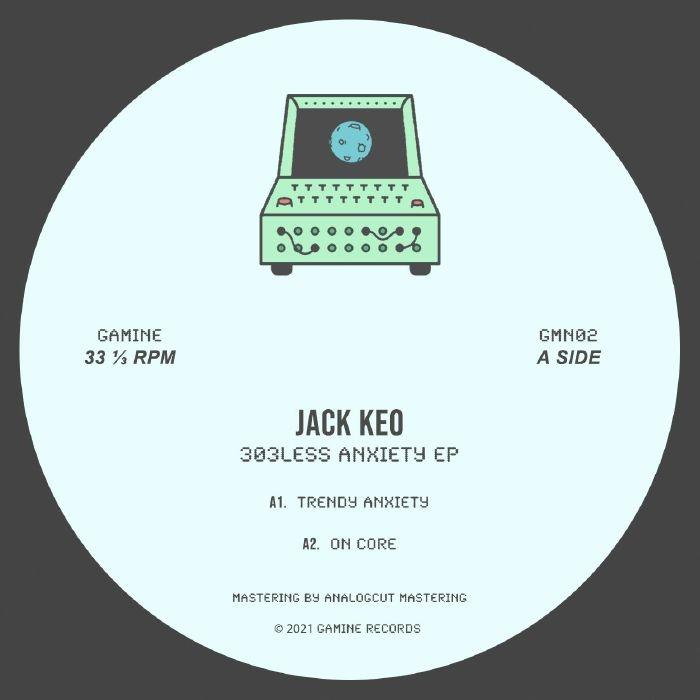 "( GMN 02 ).Jack KEO - 303less Anxiety EP (12"") Gamine Spain"