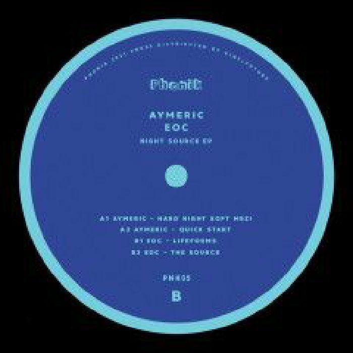 "( PNK 05 ) AYMERIC / EOC - Night Source EP (12"") Phonik Germany"