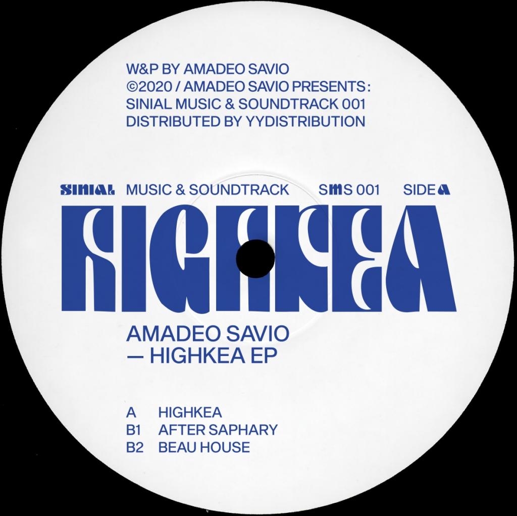 "( SMS 001 ) AMADEO SAVIO - Highkea EP (12"") Sinial"