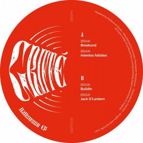 "( GRFF 003 ) BRAIK - Halloween EP (180 gram vinyl 12"") Griffe"