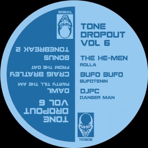 "( TD 1806 ) The HE MEN / BUFO BUFO / DJPC / DAWL / CRAIG BRATLEY - Tone Dropout Vol 6 (12"") Tone Dropout"