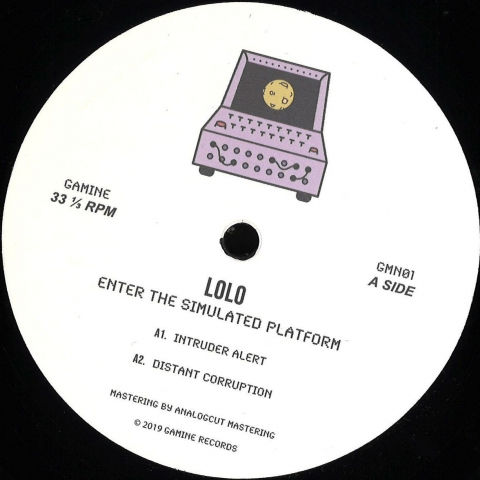 """( GMN 01 ) LOLO - Enter The Simulated Platform (180 gram vinyl 12"""" limited to 200 copies) Gamine Spain"""