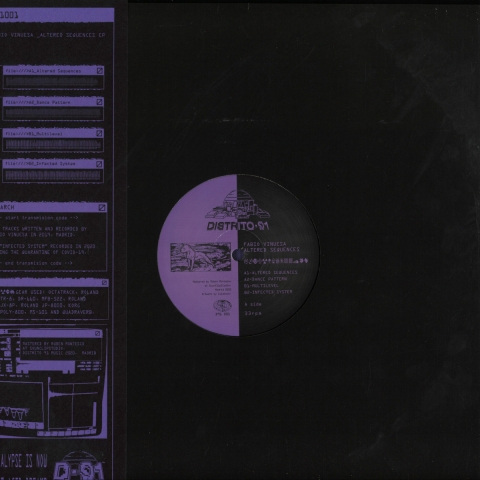 "( D91 001 ) Fabio VINUESA - Altered Sequences EP (12"") Distrito 91 Spain"