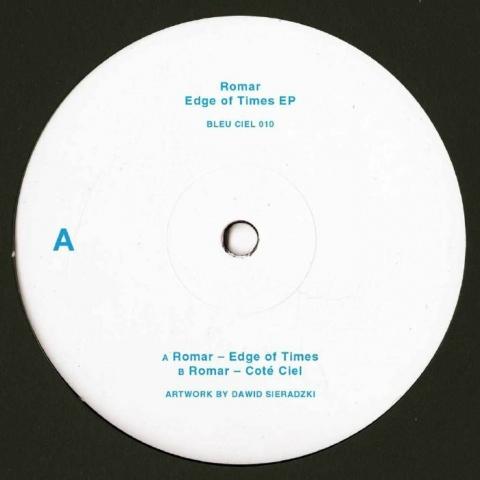 """( BLEUCIEL 010 ) ROMAR - Edge Of Times EP (180 gram blue & white marbled vinyl 12"""") Bleu Ciel"""