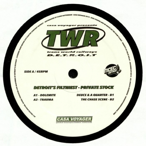 "( TWR 01 ) DETROIT'S FILTHIEST - Private Stock (12"") Casa Voyager France"