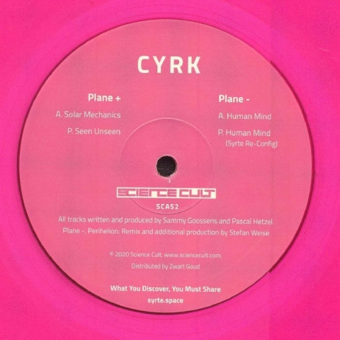 "( SCAS 2 ) CYRK - 656 281 (transparent pink vinyl 12"") Science Cult"