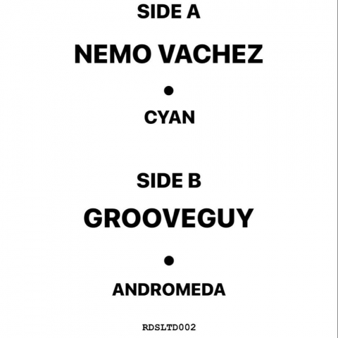"( RSD 2020LTD ) NEMO VACHEZ / GROOVEGUY - Cyan Andromeda ep (Limited copies 12"") Record store Demo"