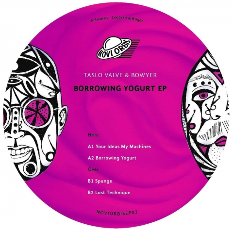 "( NOVIORBISEP 02 ) TASLO VALVE & BOWYER ‎– Borrowing Yogurt EP (Limited 250 copies 12"") Novi Orbis"
