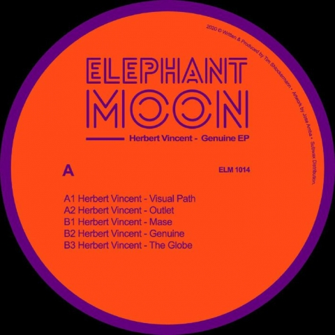 "( ELM 1014 ) Herbert VINCENT - Genuine EP (12"") Elephant Moon"