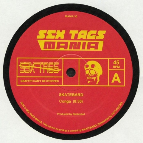 "( MANIA 30 ) SKATEBARD / CRYSTAL BOIS - Conga (12"") Sex Tags Mania Norway"
