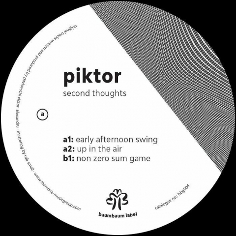 "( BBG 004 ) PIKTOR - Seconds Thoughts EP (12"")  Baumbaum"