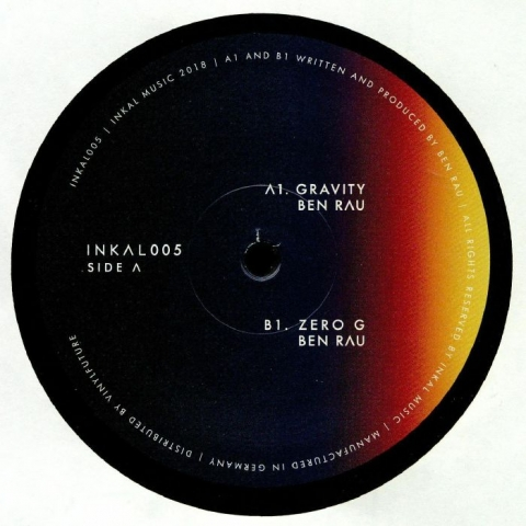 "( INKAL 005 ) Ben RAU - Gravity EP (12"") Inkal Music Germany"