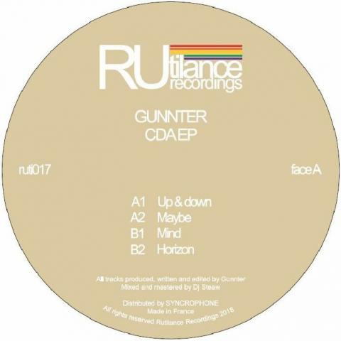 "(  RUTI 017 )  GUNNTER - Cda EP (12"") Rutilance"