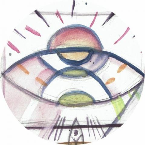 """( AMOR 002 )  Luis MALON / Z@P / DIGREGORIUS / BRUNO DI PAOLO / GUILLERMO MIRANDA - Anomalia Magnetica del Atlantico Sur EP (12"""") Amorfo Uruguay"""