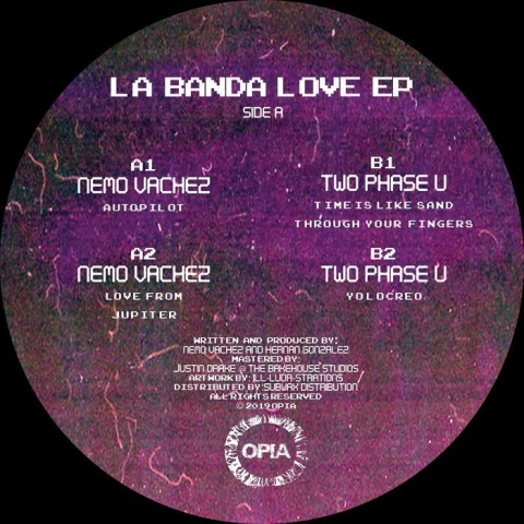 "( OPIA 005 ) Nemo VACHEZ / TWO PHASE U - La Banda Love (12"") Opia"