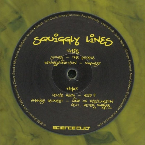 "( SCLS 01 ) VARIOUS - Squiggly Lines Vol. 1 (12"" Vinyl, Yellow marbled) Science Cult"