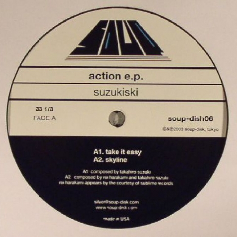 "( SOUPDISH 06 ) SUZUKISKI - Action EP 12"" - Soup Disk Japan"