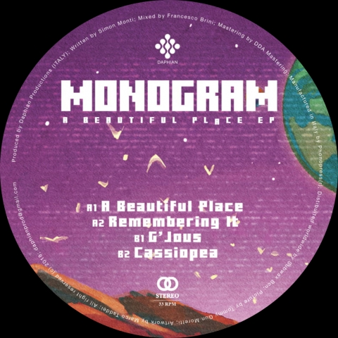 "( DPV 004 ) MONOGRAM - A Beautiful Place EP (12"") Daphian Productions Italy"