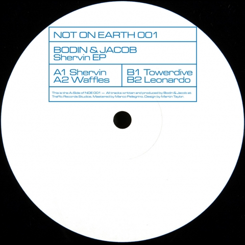 "( NOE 001 ) BODIN & JACOB - Shervin EP (12"") Not On Earth"