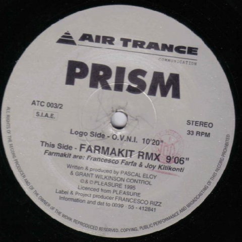 "( ATC 003 ) Prism  ‎– Vapour Trails (2 × Vinyl 12"") Air Trance Communication ‎"