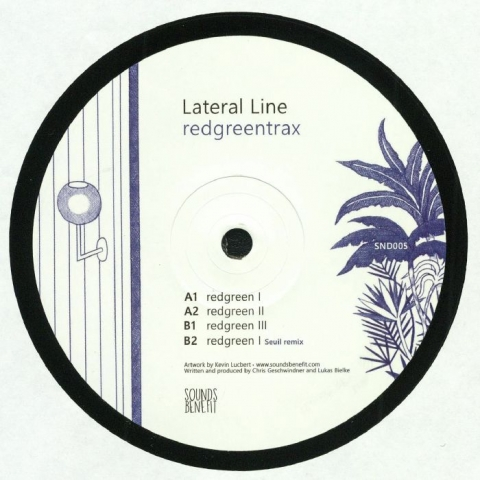 "( SND 005 ) LATERAL LINE -  Redgreentrax (repress 12"") Sounds Benefit"
