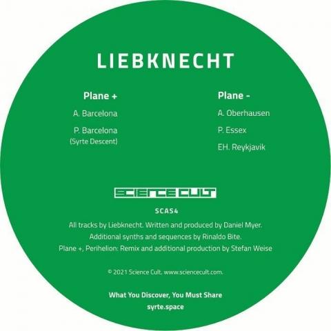"""( SCAS 4 ) LIEBKNECHT - 527 Point 039 (limited green vinyl 12"""") Science Cult"""