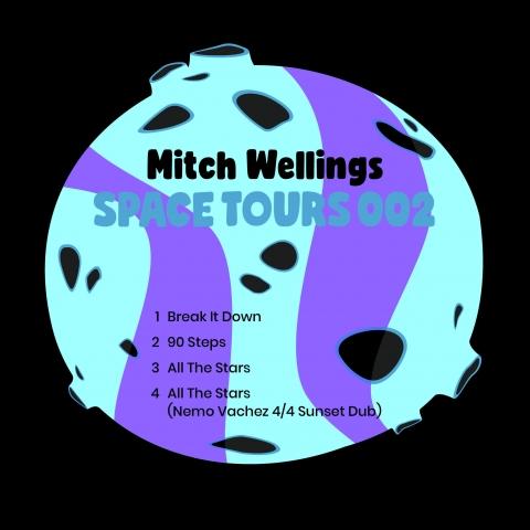 """( SPACETOURS 002 ) MITCH WELLINGS - Space Tours 002 (Incl. Nemo Vachez Remix) (12"""") Space Tours"""