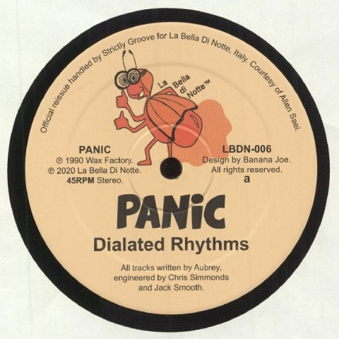 "( LBDN 006 ) PANIC - Dialated Rhythms (reissue) (12"") La Bella Di Notte Italy"