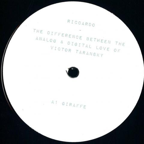 "( MET 001 ) RICCARDO - The Difference Between The Analog & Digital Love Of Victor Taransky (double 12"") Metropolita"