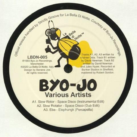 """( LBDN 005 ) SLOW ROTOR \ EBA \ F (LU)X \ SUB TEXTURE - Space Disco (reissue) (12"""") La Bella Di Notte Italy"""