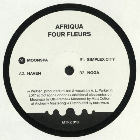 """( MTRZ 013 ) AFRIQUA -  Four Fleurs (heavyweight vinyl 12"""" repress) (1 per customer) Metereze Romania"""