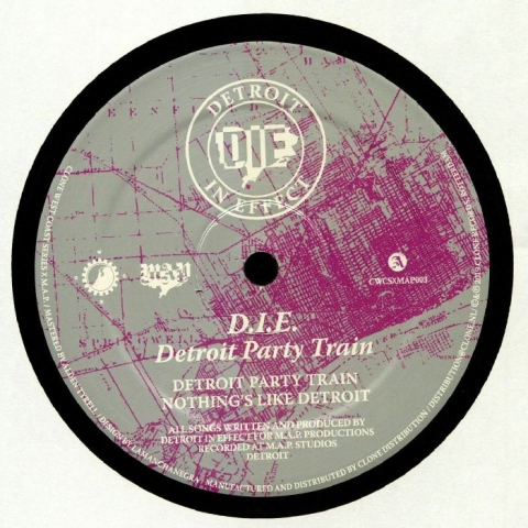 "( CWCSXMAP 003 ) DETROIT IN EFFECT -  Detroit Party Train (remastered) (12"") Clone West Coast Series Holland"