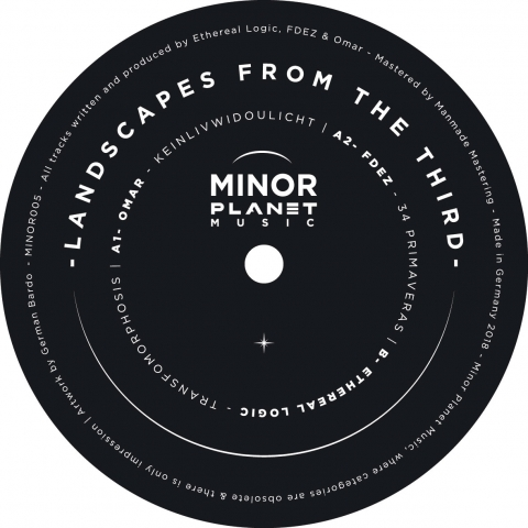 "( MINOR 005 ) Omar / FDEZ / Ethereal Logic – Landscapes From The Third (12"") Minor Planet Music"