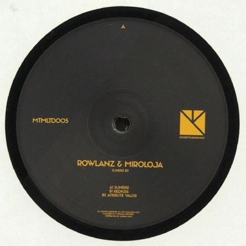 "( MTMLTD 005 ) ROWLANZ / MIROLOJA - Sunrise EP (180 gram vinyl 12"") MTM Holland"