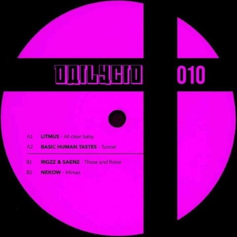 """( DAILYCID 010 ) LITMUS / BASIC HUMAN TASTES / RIGZZ & SAENZ / NEKOW - DAILYCID 010 (12"""") Dailycid"""