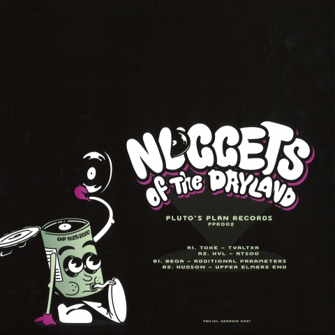"""( PPR 002 ) VARIOUS ARTISTS - Nuggets Of The Dryland (12"""") Pluto's Plan"""