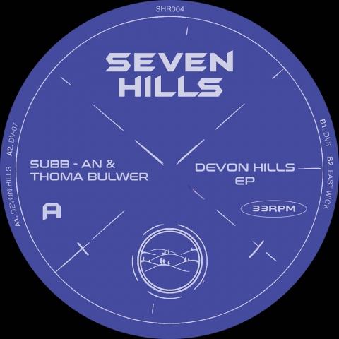 "( SHR 004 ) SUBB-AN & THOMA BULWER - Devon Hills EP ( vinyl 12"" ) Seven Hills Records"