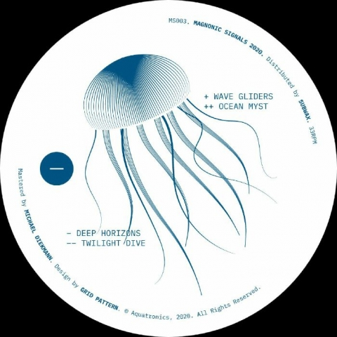"(  MS 003 )  AQUATRONICS - Deep Horizons EP (12"") Magnonic Signals Spain"