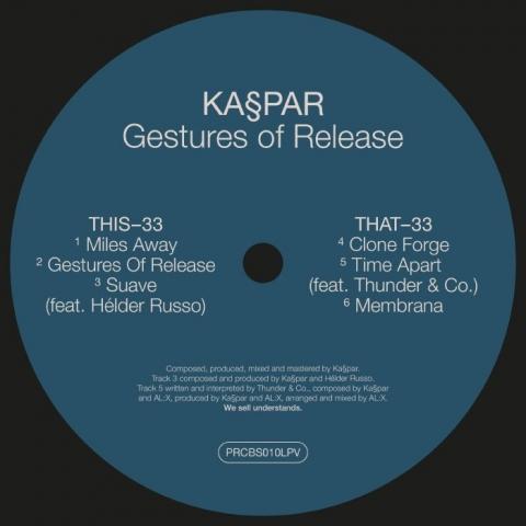 """( PRCBS 010LPV ) KASPAR - Gestures Of Release (12"""") PERCEBES"""