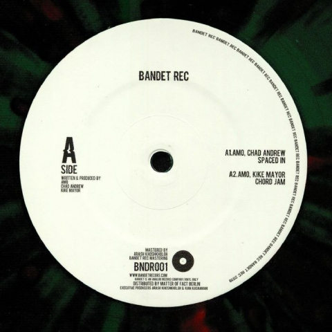 "( BNDR 001 ) AMO / CHAD ANDREW / KIKE MAYOR - BNDR 001 (green splattered vinyl 12"" limited to 100 copies) Bandet"