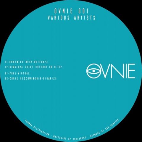 "( OVNIE 001 ) Domenico ROSA / HIMALAYA JUICE CULTURE / POHL / CHRIS GESCHWINDNER - OVNIE 001 (12"") Ovnie Spain"