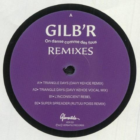 """( VER 133 ) GILB'R - On Danse Comme Des Fous remixes (12"""") Versatile France"""