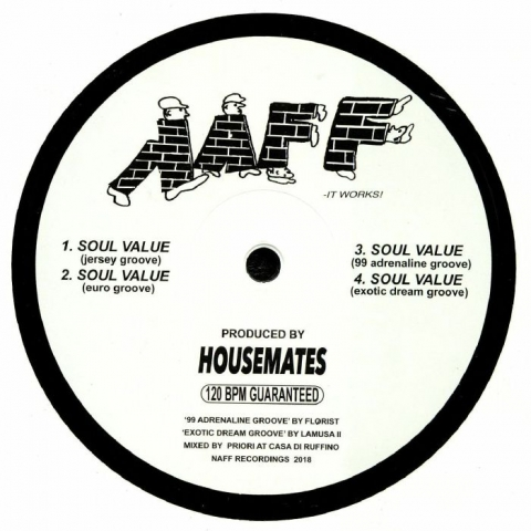 "( NAF 003 ) HOUSEMATES - Soul Value (12"") Naff Canada"