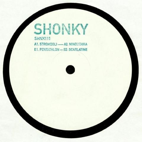 """(SHNK 111 ) SHONKY - Stromboli EP (hand-stamped 12"""") YYK No Label"""