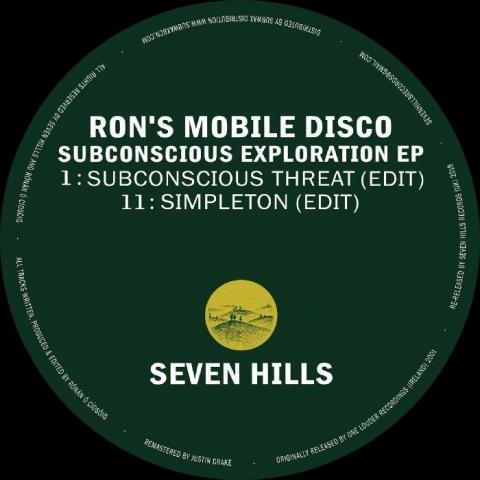 """( SHRR 02 ) RON'S MOBILE DISCO - Subconscious Exploration EP (12"""") Seven Hills"""