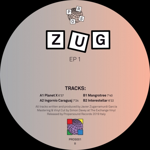 "( PROS 001 )  Zûg - EP 1 ( Format: 12"") Propersound"